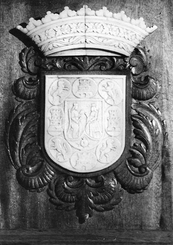 Cartela del paso con el escudo de Granada