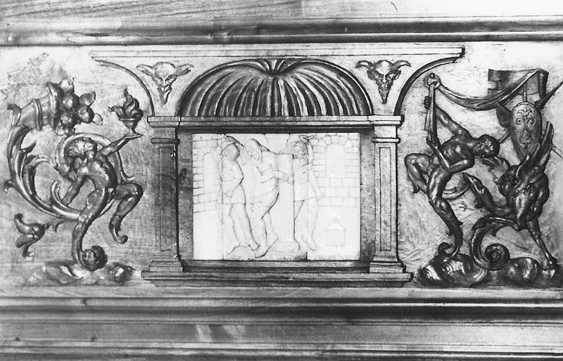 Cartela del paso con escena del Vía Crucis