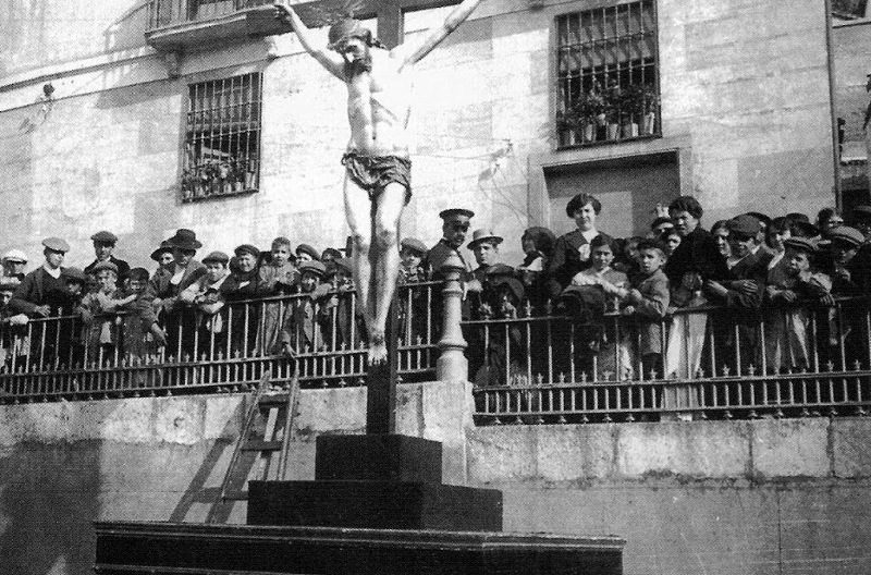 Misa de Acción de Gracias en Plaza de Santa Ana (1939)