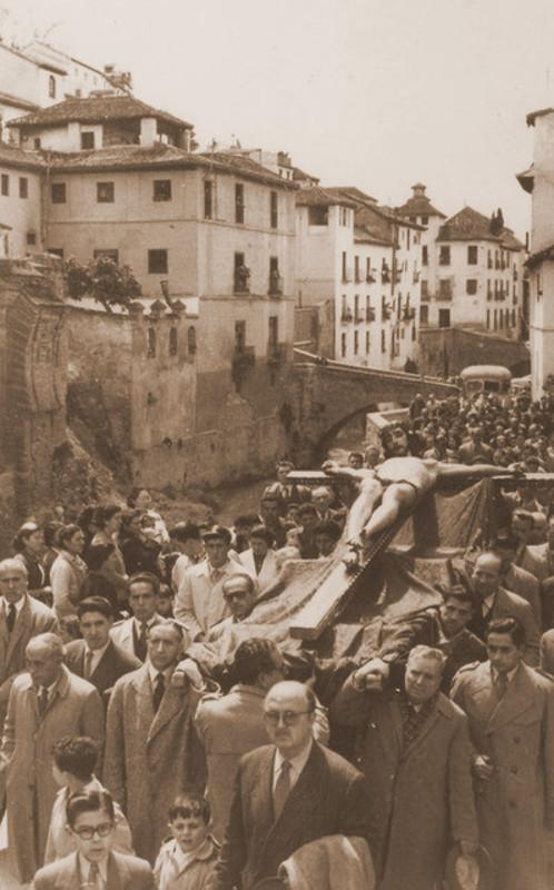 Traslado del Cristo de la Misericordia en los años 60